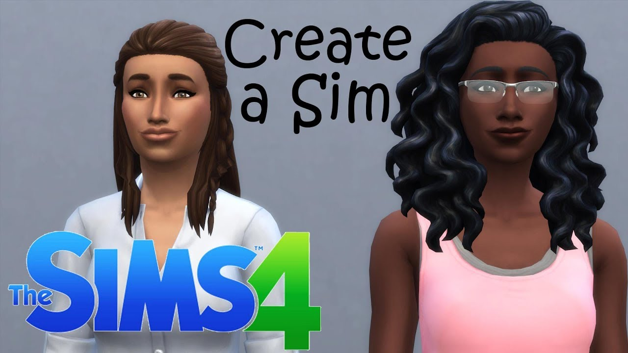 The Sims 4 CAS - Zimmer and Sierra Roomies with Pets! - YouTube
