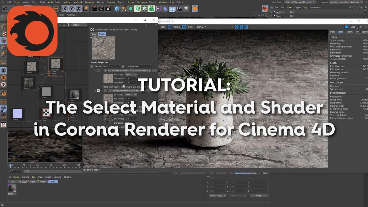 corona renderer materials c4d