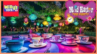 Mad Tea Party Full Tour - Disneyland Park Spinning Teacup Ride - Willy