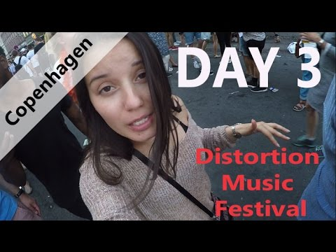 Europe Tour Vlog Day 3 Copenhagen Distortion Music Festival and Women