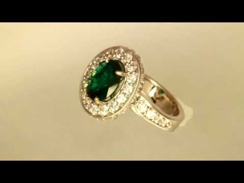 Emerald Ring by Christopher Michael With a 2.20 Carat Gem Quality Emerald