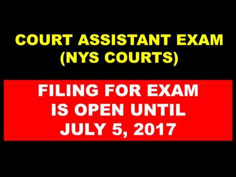 court assistant exam new york state courts youtube rh youtube com Post Office Exams Dates Post Office Exam Results