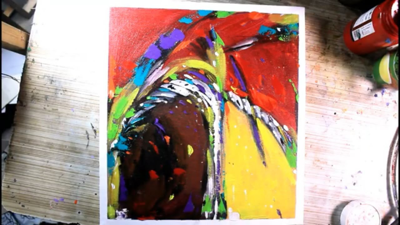 how to paint abstract art/abstract painting with acrylic/easy abstract painting/project#31