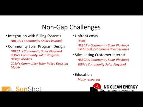 Community Solar for the Southeast: Gaps Challenges & Analysis