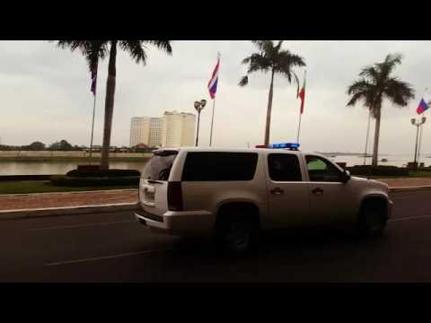 Prime minister Hun Sen escort
