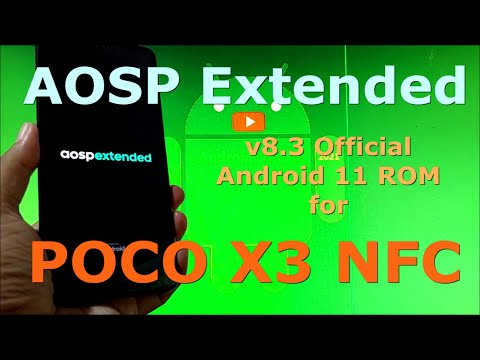 AOSP Extended v8.3 Official for Poco X3 NFC ( Surya ) Android 11