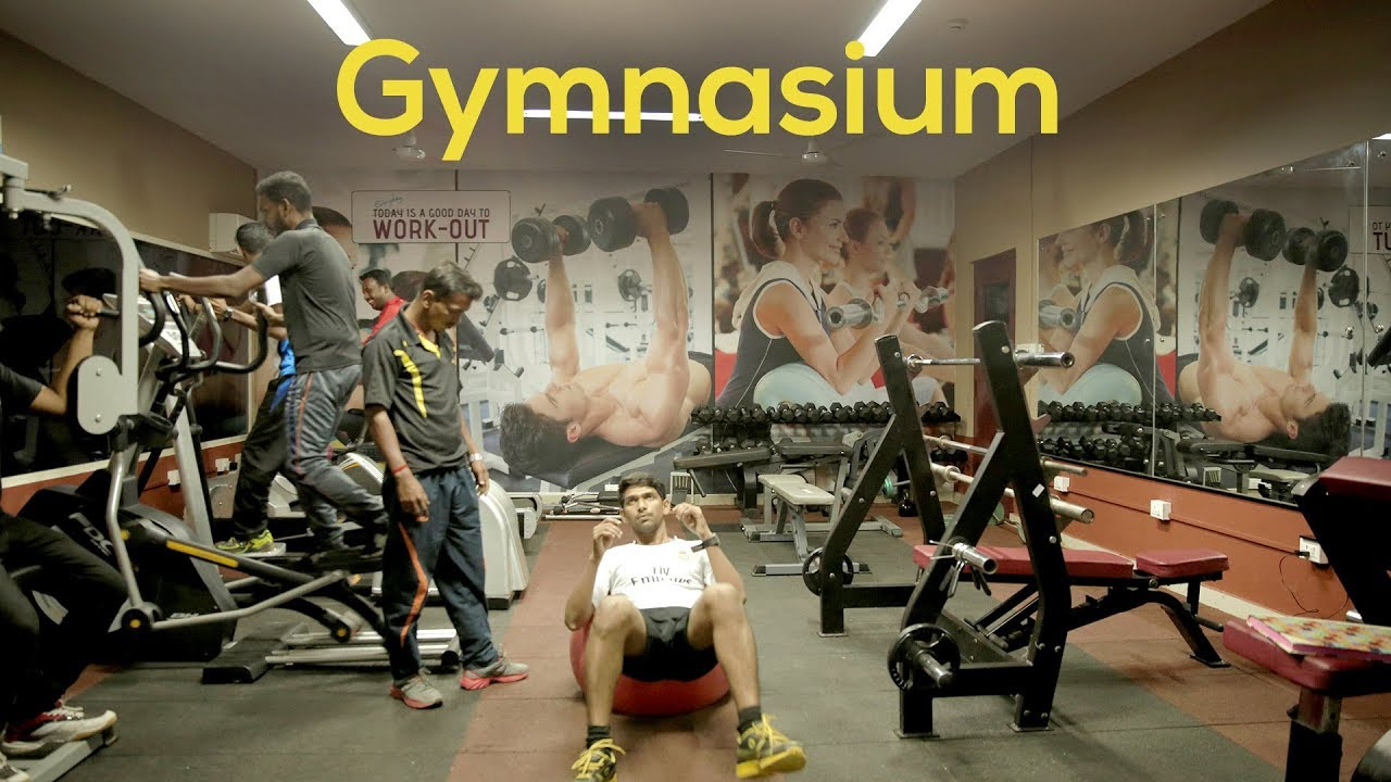 Gymnasium workout routines at jimmy george sports hub