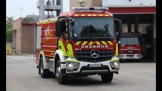 Bombers Valencia BNL-6 a un servicio urgente // Valencia Fire Service tanker responding