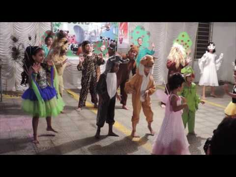 Jungle theme dance by kids