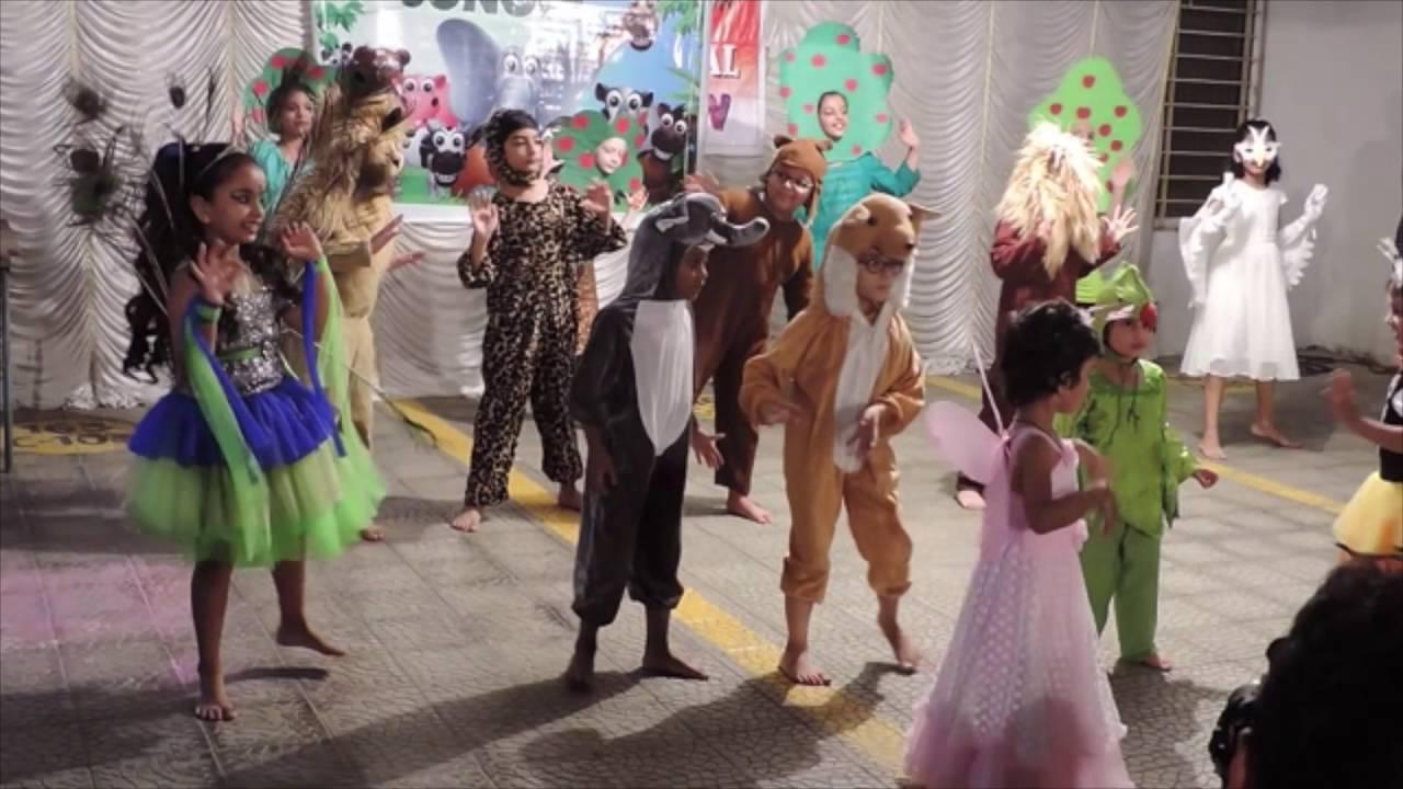 Jungle Theme Dance By Kids Youtube