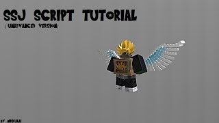 Roblox SSJ Tutorial (UPDATED) (Easy)