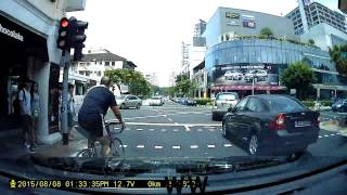 ill mannered cyclist at joo chiat road pls watch and keep a lookout for him