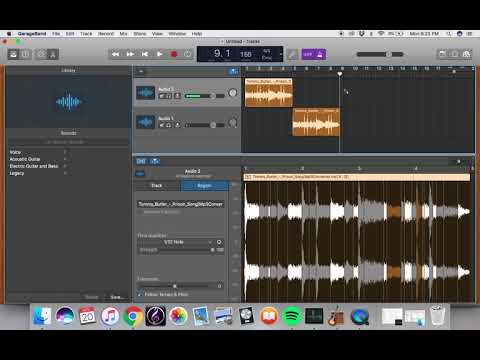 How to Quantize and Pitch Change in Garageband