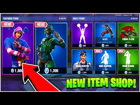 Fortnite ITEM SHOP Update NEW VERGE SKIN SHOWCASE- 15th January 2019  (Fortnite Item Shop Live) thumbnail