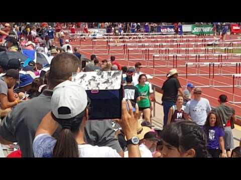 2017 State Track 300m hurdles. Albuquerque NM