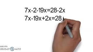 решаем уравнение. Как решить уравнение? математика 5 класс, 6 класс, 7 класс, 8 класс. Начало