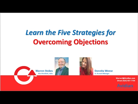 Learn the Five Strategies for Overcoming Objections