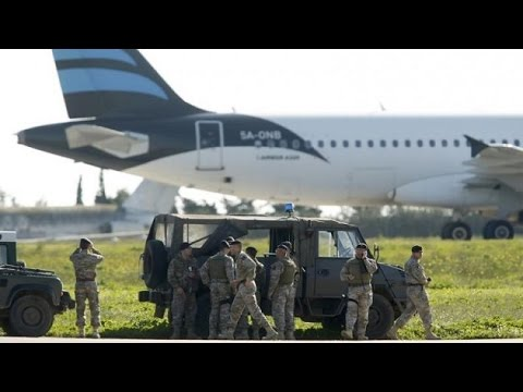 Plane with 118 people hijacked in Libya, force lands in Malta