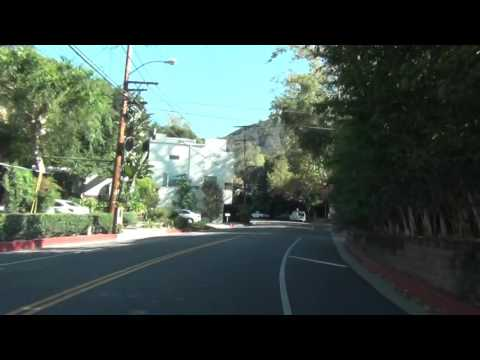 Driving in Hollywood Hills california!