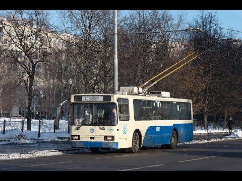 Поездка на троллейбусе БКМ 20101 №1829 №70 Братцево-Белорусский вокзал