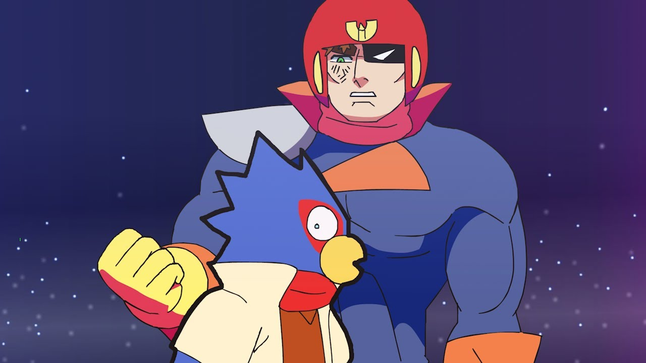 Captain Falcon is OVERPOWERED (Smash Bros Animation)