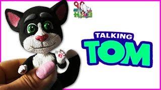 МАЛЕНЬКИЙ ГОВОРЯЩИЙ КОТ ТОМ ❤️ КУКЛА ООАК часть 2 / My Talking Tom// Muza Rukodeliya 🌺