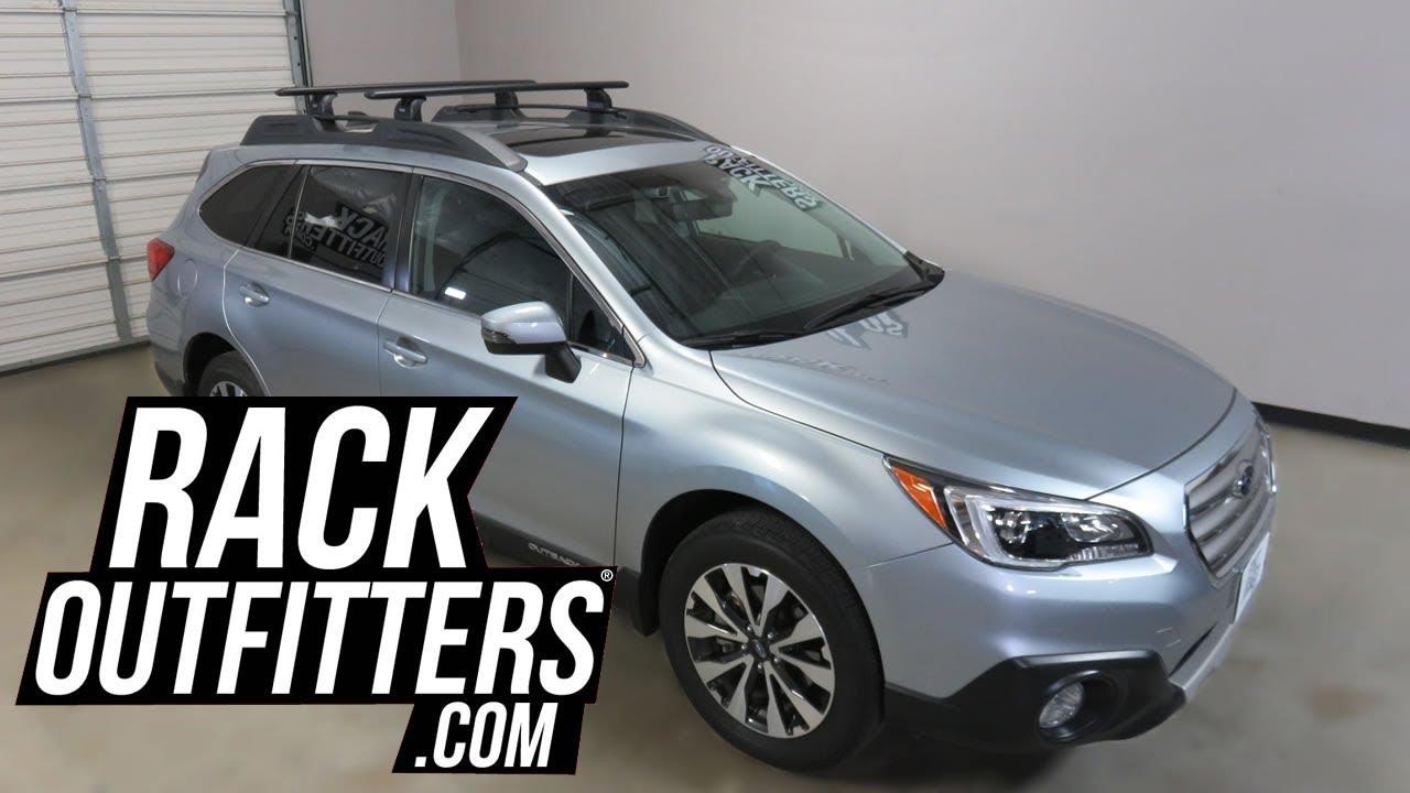 Subaru Outback Wagon With Thule Rapid Podium Wingbar Evo Roof Rack Crossbars Youtube