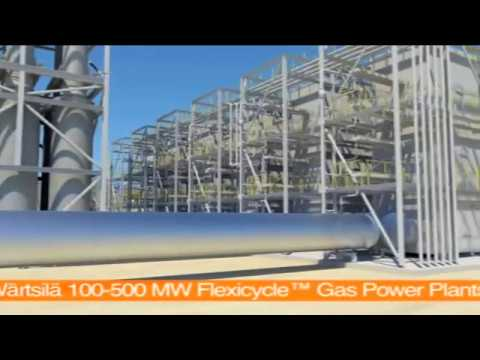 100-500 MW Flexicycle™ Gas Power Plants | Wärtsilä