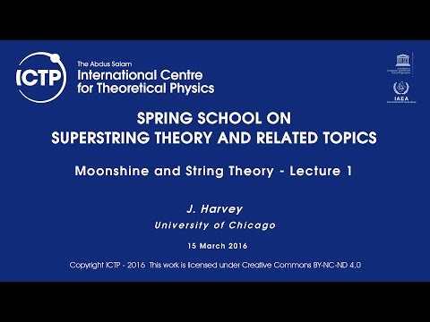 J. Harvey: Moonshine and String Theory - Lecture 1