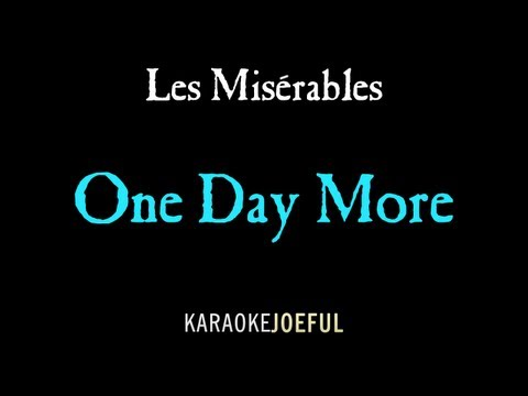 One Day More Les Miserables Authentic Orchestral Karaoke Instrumental
