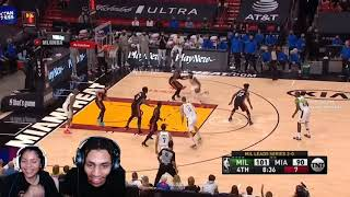 Pure Definition Of A Bubble Team.. SWEEP!   Heat Vs Bucks Game 4 Playoff Highlights! Reaction!