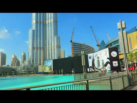 Beautiful Azan (Call to prayer) at Burj Khalifa & Dubai Mall برج خليفة ودبي مول الأذان