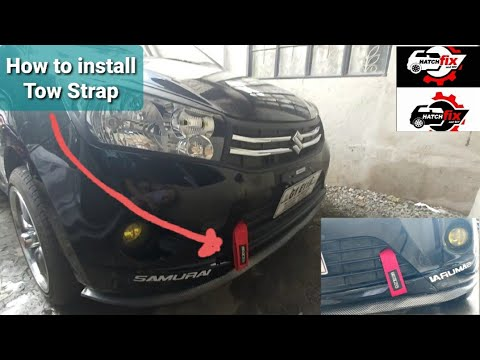 How to install Sparco Car Tow Strap | Suzuki Celerio