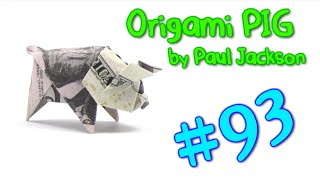 Cool Origami Money PIG by Paul Jackson - Yakomoga dollar Origami tutorial