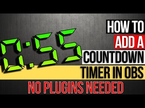 How To Add A OBS Countdown Timer - NO PLUGINS NEEDED