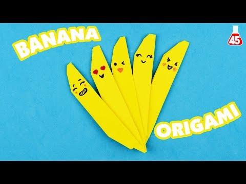 Tutorial Origami Banana | DIY Lavoretti con la carta