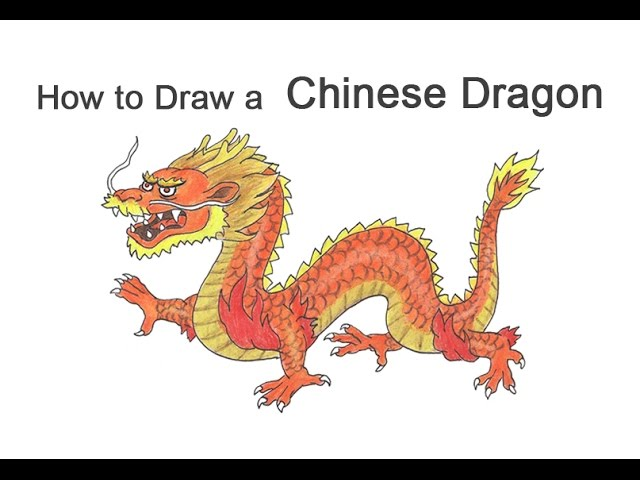 How To Draw A Chinese Dragon Youtube