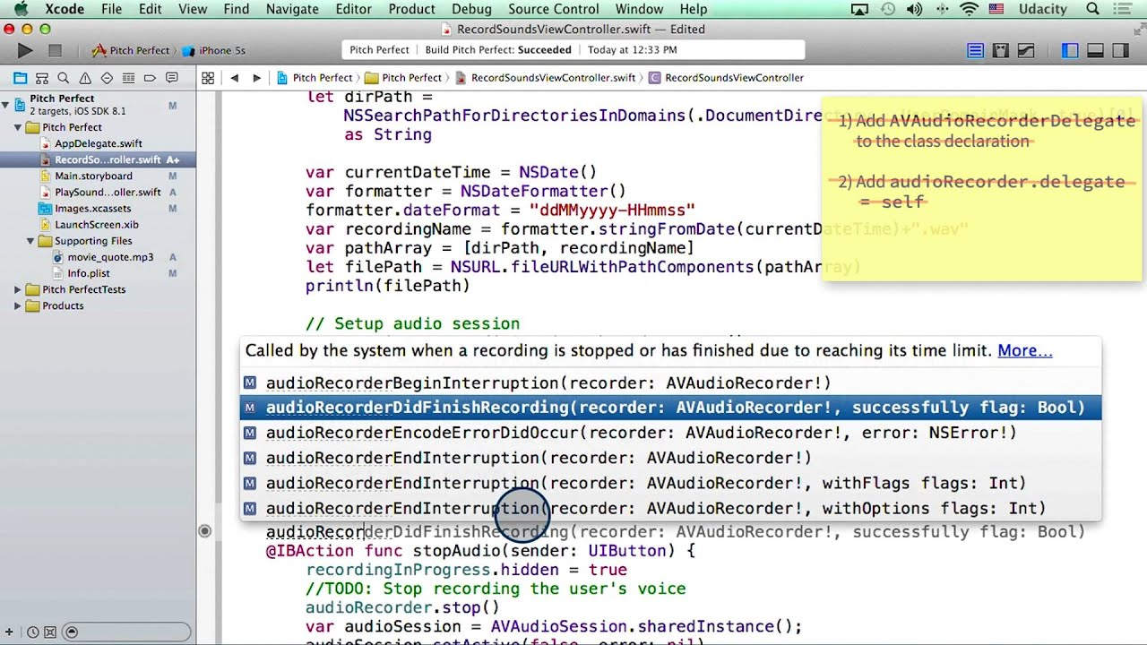 Implementing a Delegate - Intro to iOS App Development with Swift