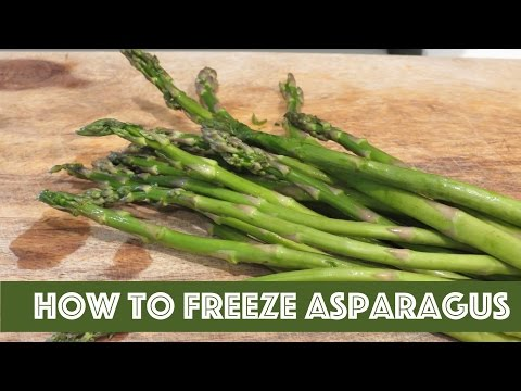 How To Freeze Asparagus The Frugal Chef Youtube