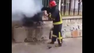 kola ile ateş söndürme