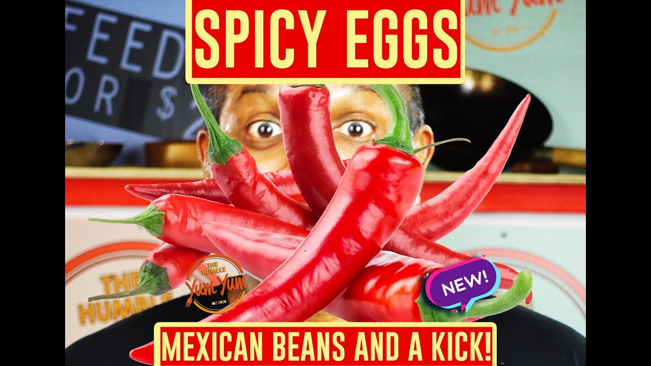 SPICY MEXICAN EGGS with Beans and a Kick! Feed 4 for under $20! ONE POT - ONE PAN