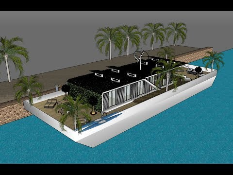 Houseboat hire Hinchinbrook channel qld Masquerade Floating Villa for Rent luxury
