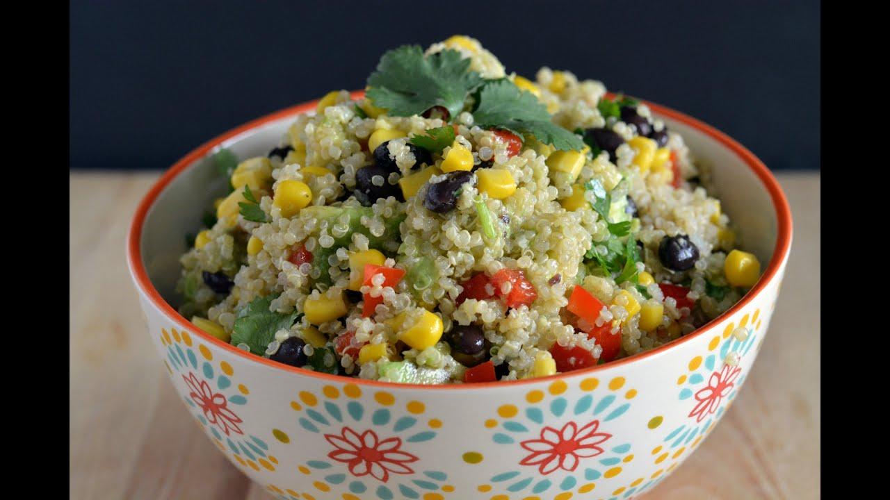 Quinoa & Black Bean Salad Recipe How To Cook Quinoa Sys
