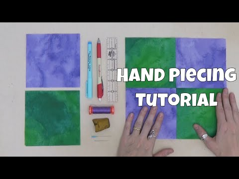 Hand Piecing Tutorial - How To Piece A 4 Patch Quilt Block By Hand!