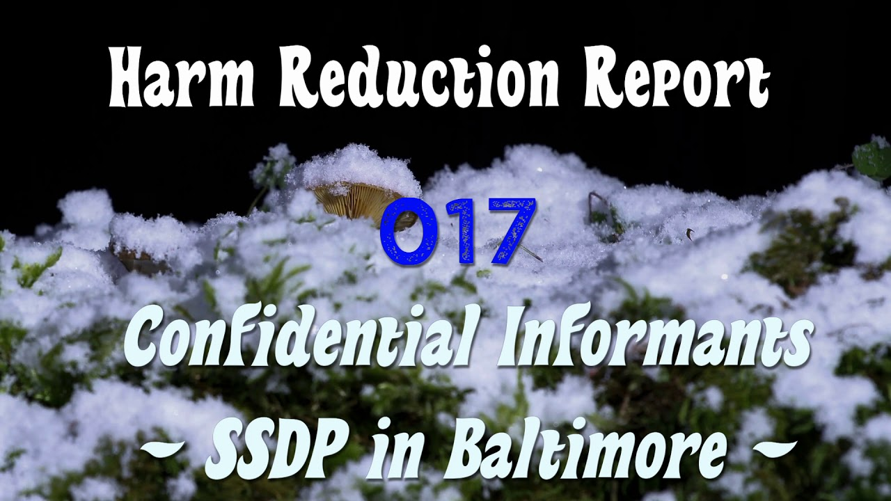 Harm Reduction Report 017: Confidential Informants - SSDP 2018