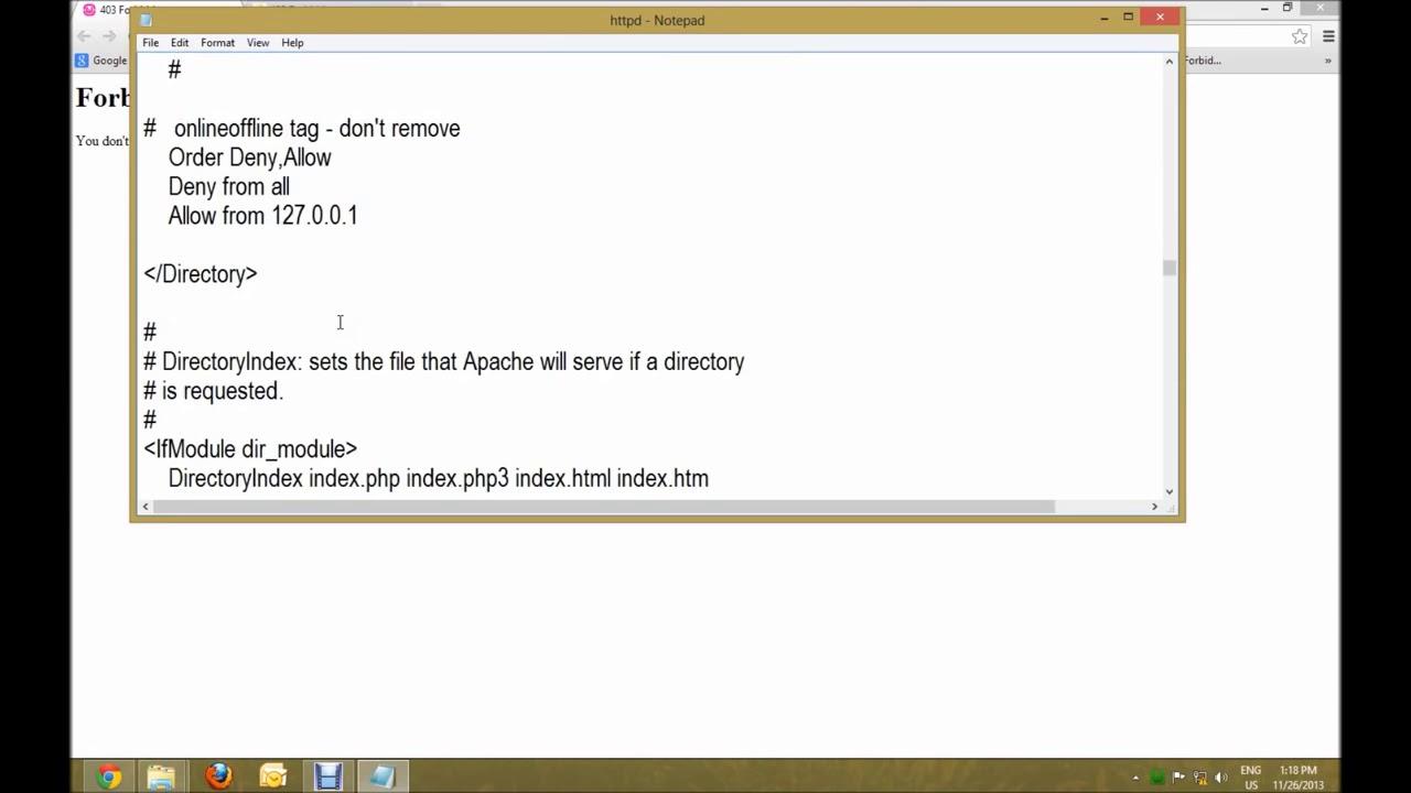 Fix WAMP Server 403 Forbidden Error - Bangla