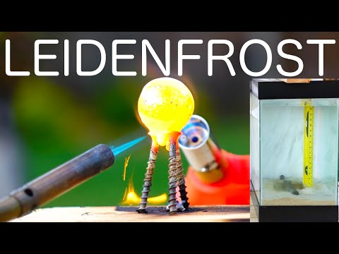 Thumbnail: Do hot objects fall through water faster? Leidenfrost Effect!