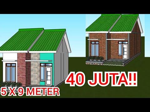 Bangun Rumah Minimalis 5x9 Meter 2 Kamar Tidur 40 Juta Youtube