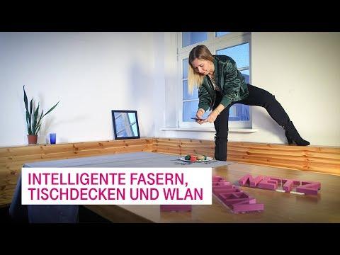 Social Media Post: Intelligente Fasern, Tischdecken und WLAN - Netzgeschichten