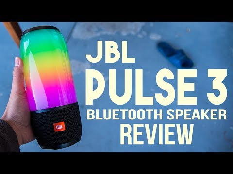 JBL Pulse 3 Bluetooth Speaker Review - LED Light Show!